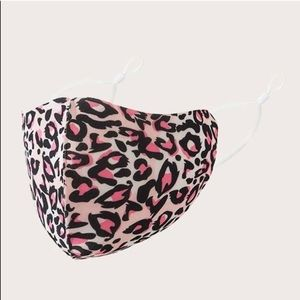 Accessories - Pink Leopard Print Face Mask
